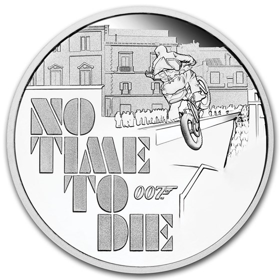 2020 Tuvalu 1 oz Silver James Bond No Time to Die Proof