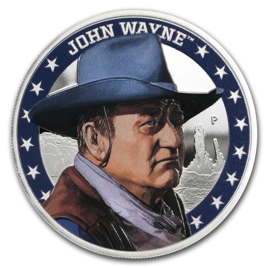 2020 Tuvalu 1 oz Silver John Wayne Proof