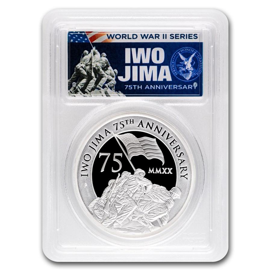 2020 Tuvalu 5 oz Silver Iwo Jima 75th Anniv PR-69 PCGS (FDI)