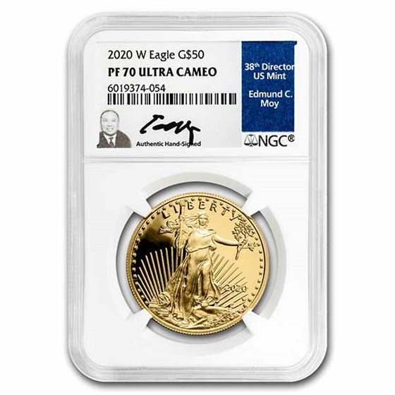 2020-W 1 oz Proof American Gold Eagle PF-70 NGC (Edmund C. Moy)