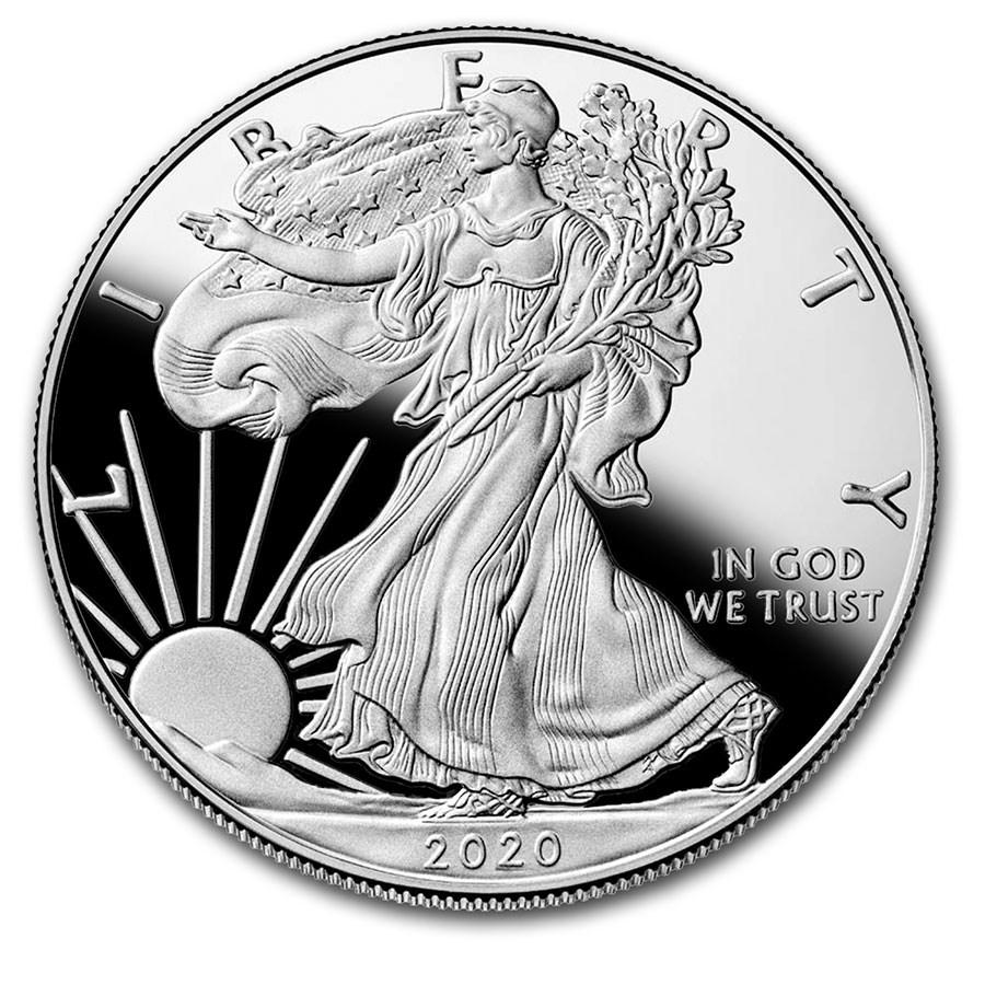 2020-W 1 oz Proof American Silver Eagle (w/Box & COA)