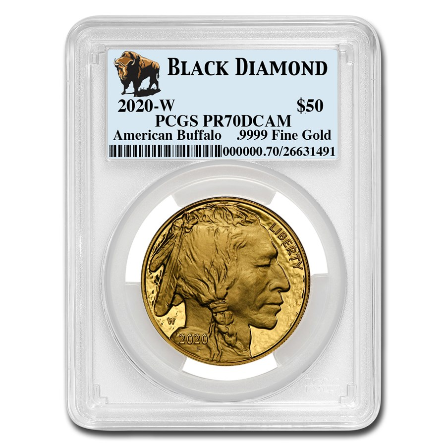 2020-W 1 oz Proof Gold Buffalo PR-70 PCGS (Black Diamond)