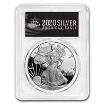 2020-W American Silver Eagle PR-70 PCGS (First Day, Black Label)