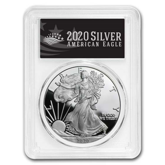 2020-W American Silver Eagle PR-70 PCGS (First Day, Black Label)