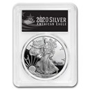 2020-W American Silver Eagle PR-70 PCGS (FS, Black Label)