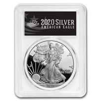 2020-W American Silver Eagle PR-70 PCGS (FS, Black Label)