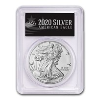2020-W Burnished Silver Eagle SP-70 PCGS (First Day, Black Label)