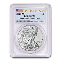 2020-W Burnished Silver Eagle SP-70 PCGS (First Day of Issue)
