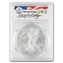 2020-W Burnished Silver Eagle SP-70 PCGS (Reagan Legacy Series)
