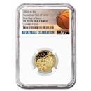 2020-W Gold $5 Basketball Hall of Fame PF-70 NGC (FDOI)