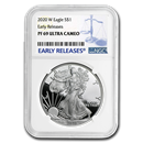 2020-W Silver American Eagle PF-69 NGC (Early Releases)