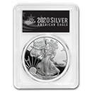2020-W Silver American Eagle PR-70 PCGS (First Day, Black Label)