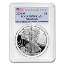 2020-W Silver American Eagle PR-70 PCGS (First Day of Issue)