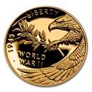2020-W World War II Gold Anniversary Coin (w/Box and CoA)