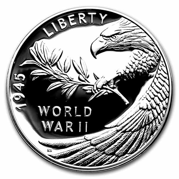 (2020) World War II V75 Silver Anniversary Medal Pf (w/Box & COA)