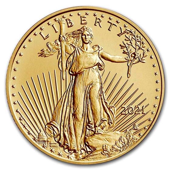 2021 1/10 oz American Gold Eagle BU (Type 2)