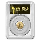 2021 1/10 oz American Gold Eagle MS-70 PCGS (FDI, Black, Type 2)