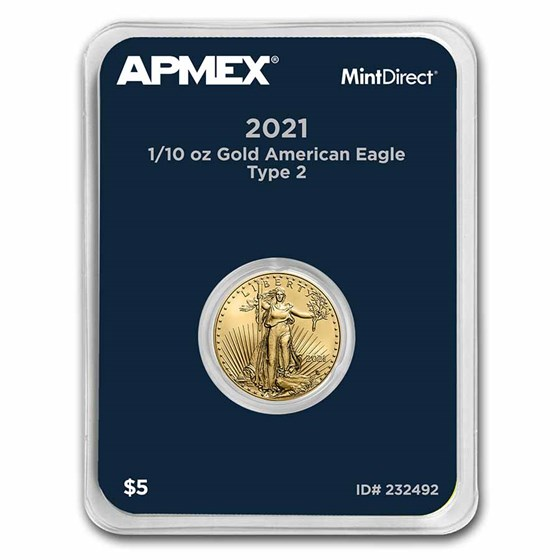 2021 1/10 oz American Gold Eagle (Type 2) (MintDirect® Single)