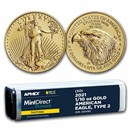 2021 1/10 oz Gold Eagle (50-Coin MDP® + PCGS FS® Tube, Type 2)