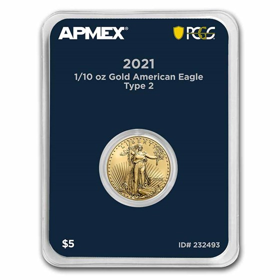 2021 1/10 oz Gold Eagle (Type 2) (MD® Premier + PCGS FirstStrike)