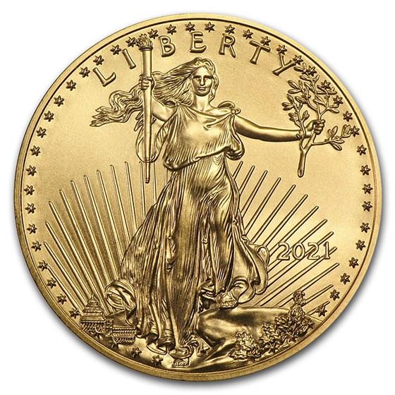 2021 1/2 oz American Gold Eagle Coin BU (Type 1)