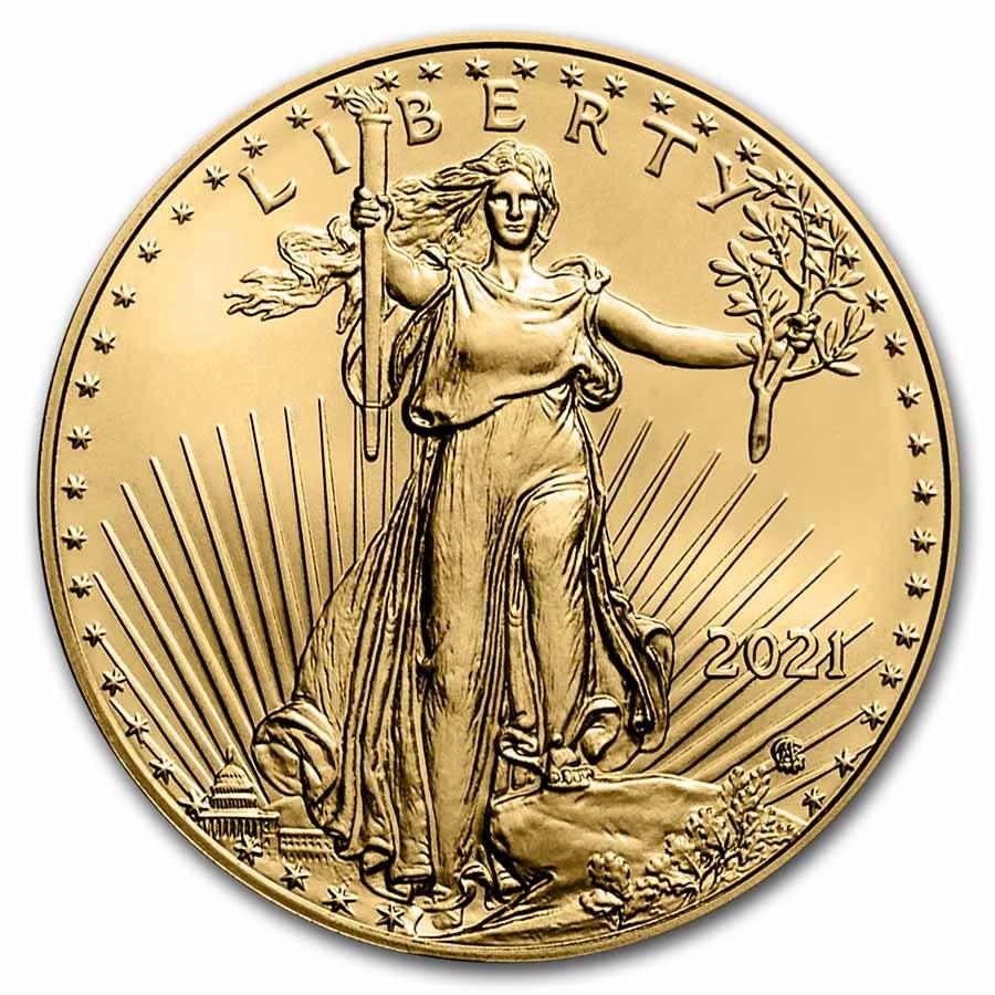 2021 1/2 oz American Gold Eagle Coin BU (Type 2)