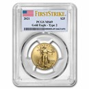 2021 1/2 oz American Gold Eagle MS-69 PCGS (FirstStrike®, Type 2)