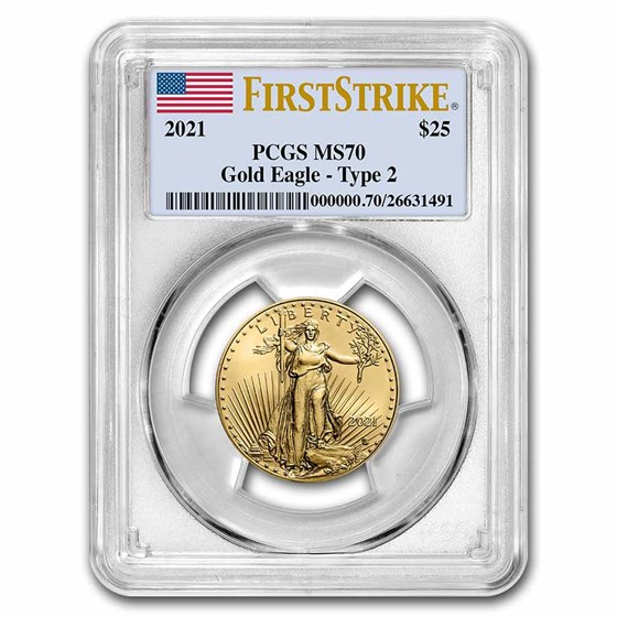 2021 1/2 oz American Gold Eagle MS-70 PCGS (FirstStrike®, Type 2)