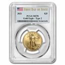 2021 1/2 oz American Gold Eagle (Type 1) MS-70 PCGS (FDI)
