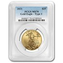 2021 1/2 oz American Gold Eagle (Type 1) MS-70 PCGS