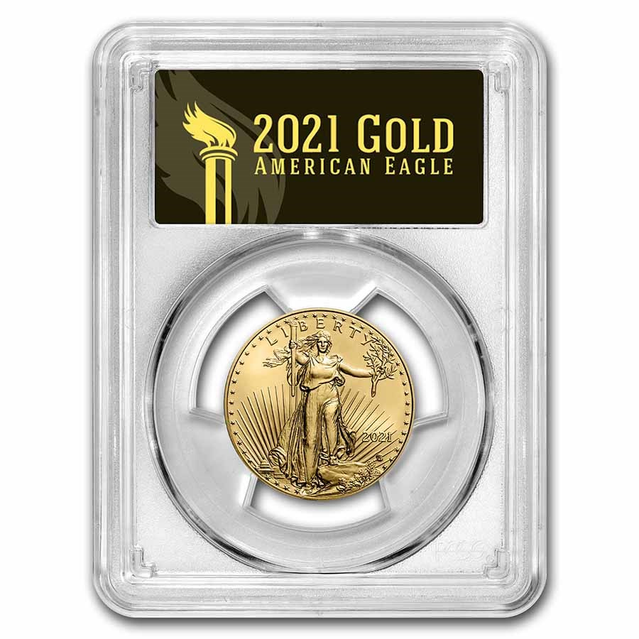 2021 1/2 oz Gold Eagle (Type 2) MS-70 PCGS (FirstStrike®, Black)