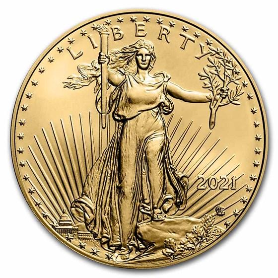 2021 1/4 oz American Gold Eagle Coin BU (Type 2)