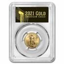 2021 1/4 oz American Gold Eagle MS-70 PCGS (FDI, Black, Type 2)