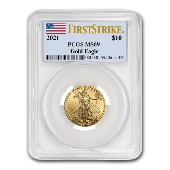 2021 1/4 oz American Gold Eagle (Type 1) MS-69 PCGS (FS®)
