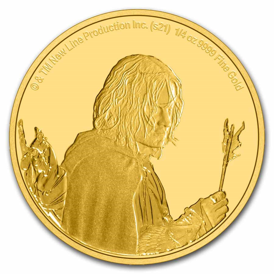 2021 1/4 oz Gold Coin $25 The Lord of the Rings: Aragorn