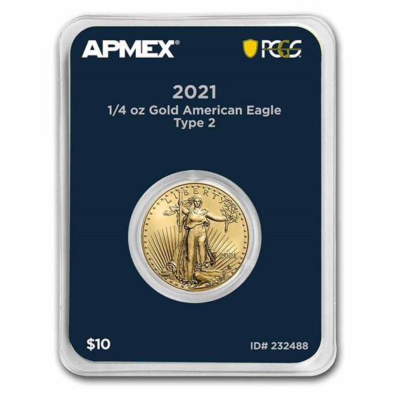 2021 1/4 oz Gold Eagle (Type 2) (MD® Premier + PCGS FirstStrike®)