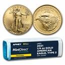 2021 1/4 oz Gold Eagle (Type 2) (MD® Premier + PCGS FS® Tube)