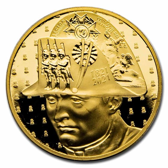 2021 1/4 oz Proof Gold €50 Bicentenary of Napoleon's Passing Away