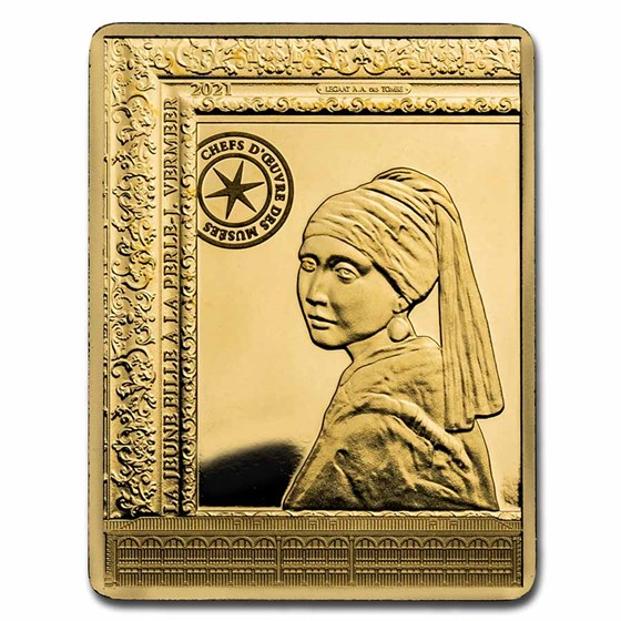 2021 1/4 oz Proof Gold €50 The Girl with The Pearl Earring