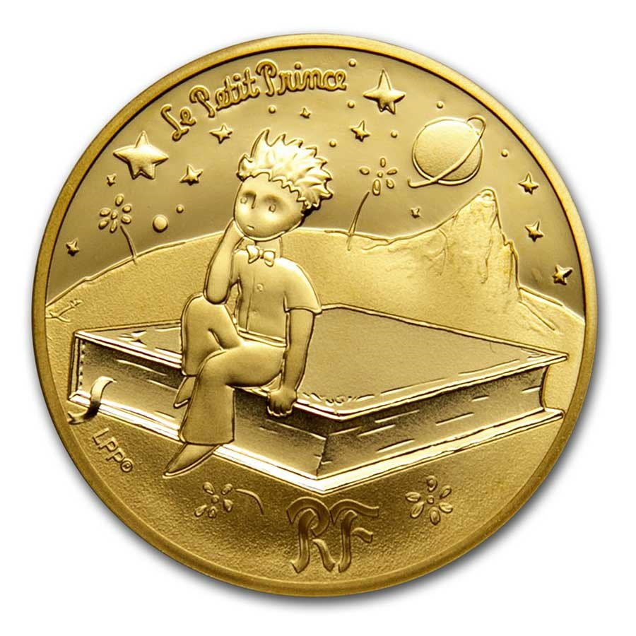 2021 1/4 oz Proof Gold €50 The Little Prince (Book)