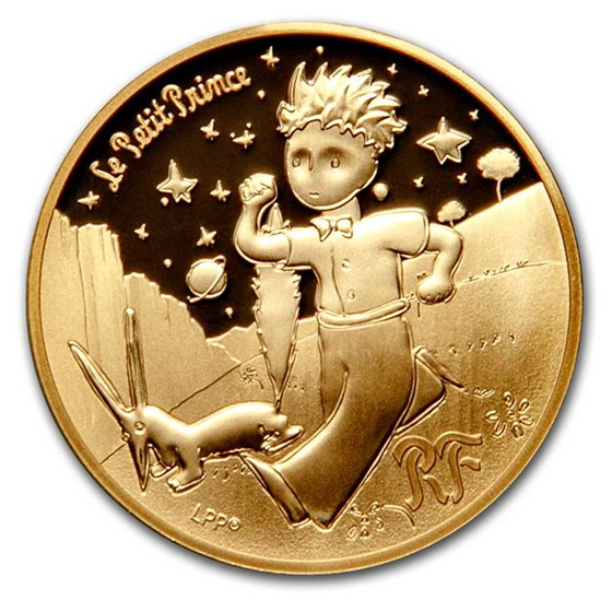 2021 1/4 oz Proof Gold €50 The Little Prince (Fox)