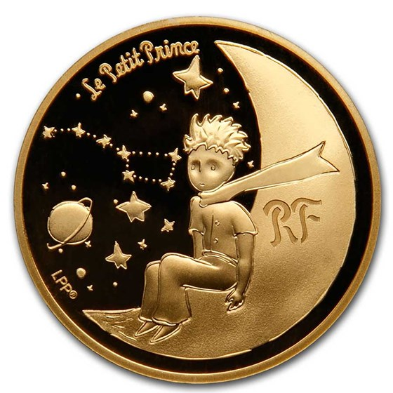 2021 1/4 oz Proof Gold €50 The Little Prince (Moon)