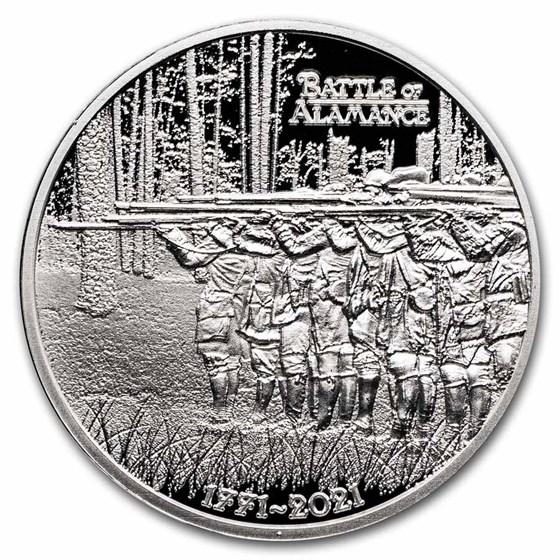 2021 1 oz Ag $1 American Rev 250th Anniv Battle of Alamance Prf