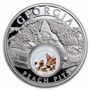 2021 1 oz Ag Treasures of the U.S. Georgia Peach Pits (Box/COA)