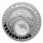 2021 1 oz Ag Treasures of the U.S. Illinois Fluorite (Box/COA)