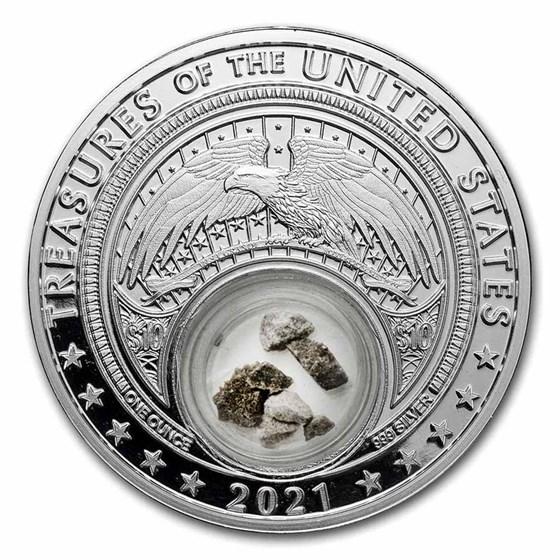 2021 1 oz Ag Treasures of the U.S. Indiana Limestone (Box/COA)