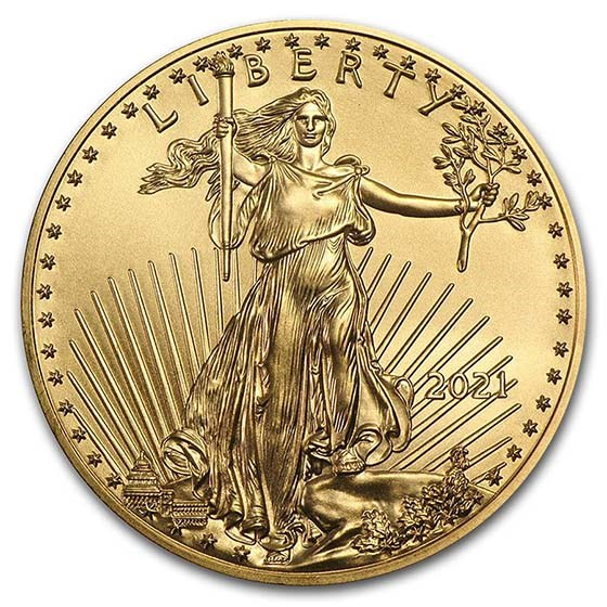 2021 1 oz American Gold Eagle Coin BU (Type 1)