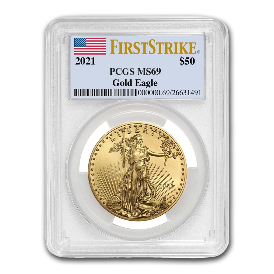 2021 1 oz American Gold Eagle MS-69 PCGS (FirstStrike®)