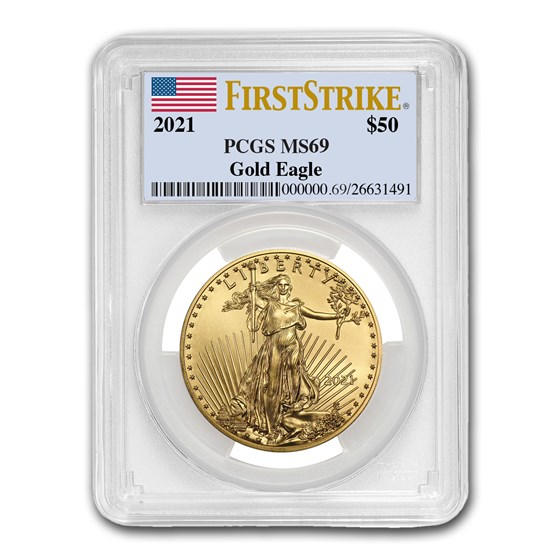 2021 1 oz American Gold Eagle (Type 1) MS-69 PCGS (FirstStrike®)