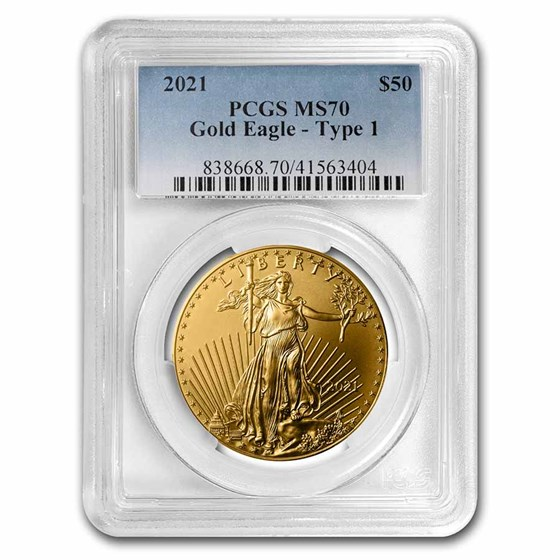 2021 1 oz American Gold Eagle (Type 1) MS-70 PCGS